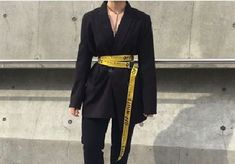 Chic Mix Cool Outfits, Casual Outfits, Fashion Outfits, Fashion Hair, Seoul Fashion, Korean Fashion, Older Women Fashion, Womens Fashion, Off White Belt
