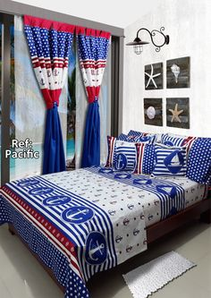 Ref: Pacific ⛵ Disponible en medidas: Sencilla (1mx1.90m), Semi (1.20mx1.90m), Doble (1.40mx1.90m), Queen (1.60mx1.90m) y King (2mx2m) #Pacific #Marinero #Dalotex #Lenceria #Hogar #Sabanas #Red #Blue #Sailor #Lenceria Girls Bedroom, Bedroom Decor, Bed Covers, Bed Sheets, Bedding Sets, Blankets, Boy Or Girl, Decoration, Gallery