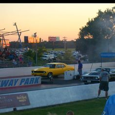 """My dad and his best restored a chevy nova and named it """"Nasty Habit""""  They drag raced at the races.  good days"""