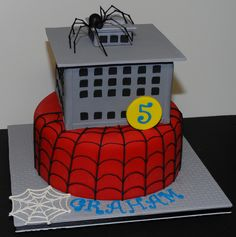 Spiderman Theme Birthday Cake