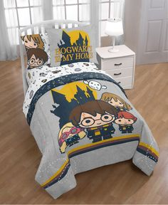Colchas Harry Potter, Harry Potter Charms, Harry Potter Bedroom, Harry Potter Bed Sheets, Harry Potter Pillow, Twin Size Bed Sets, Twin Comforter Sets, Kids Bedding Sets, Bed In A Bag