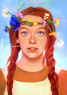 I watched the Anne with an E series on Netflix. I laughed and cried, definitely loved the series. Amybeth McNulty , who plays Anne in the series, is a great actress who did a splendid performance. This is her portrait ☺️ . If you haven't watched the Couple Crafts, Gilbert And Anne, Amybeth Mcnulty, Anne White, Anne With An E, Anne Shirley, Art Drawings, Pop Art, Sketches