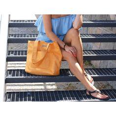 Womans Handbag / Summer Handbag / Beach Handbag / Style Fashion Orange Handbag MILI CHIC MC4 / Gift for Her