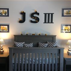 Beautiful designed nursery room with my metal wall letters!  Photo by: aliki, the best customer ever :)