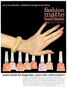 1962 Max Factor Fashion Matte Nail Satin