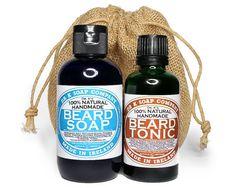 All Natural Beard Care Gift Set For Men For Him -- Beard Wash & Beard Oil