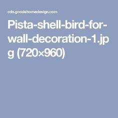 Pista-shell-bird-for-wall-decoration-1.jpg (720×960)