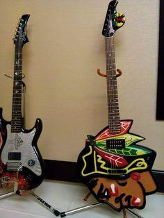 We love this #Blackhawks guitar!