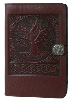 Leather Kindle Fire Covers and Cases | World Tree in Wine