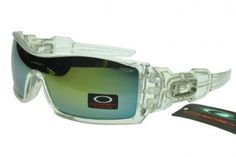 Cheap Oakley Oil Rig Transparent Frame Lightskyblue Lens Sunglasses
