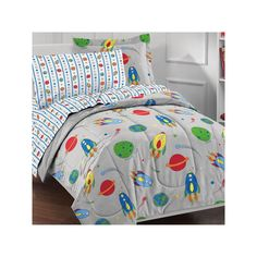 Dream Factory Space Rocket 5-pc. Bed Set - Twin, Grey