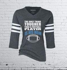 Our football inspired jersey t-shirt is the perfect piece of spirit wear for any proud football mom. This adorable tee is professionally imprinted