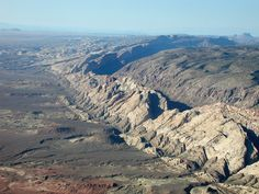 San Rafael Reef, Emery County, Utah  Photographer: Tom Chidsey   The steeply dipping east flank of the San Rafael Swell is part of a large fold that formed in Late Cretaceous to early Tertiary time.