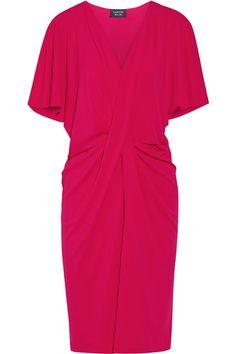 Lanvin|Twist-front stretch-jersey dress|NET-A-PORTER.COM