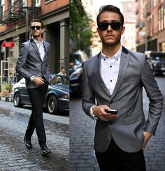 Topman Suit, Shoes, Tko Watch - Chrome - Adam Gallagher