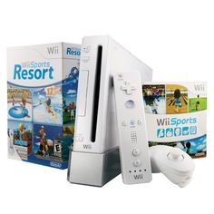 Wii with Wii Sports Resort – White Overview    The Wii console brings a revolution of interactive gaming to people of all ages. Experience intuitive motion controls that deliver a unique social activity for the whole family. Wii gaming gets everyone off of the couch for hours of fun! Now with the addition of Wii Sport Resort and the Wii MotionPlus accessory, the Wii console bundle comes packed with software and accessories to enhance your Wii experience. Plus for the first time,