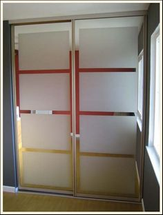 How to deal with mirror closet doors!