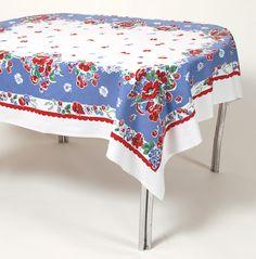 Vintage tablecloth.