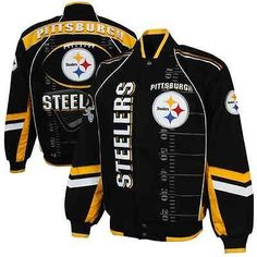 Pittsburgh Steelers Franchise Twill Jacket - Black/Gold