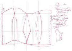 moldes corset para vestidos 15 - Buscar con Google