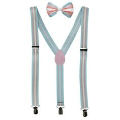 Perfect For All Sizes Pride Coloured Elastic Suspenders With Metal Clips