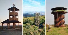 Toto je 15 rozhľadní, o ktorých ste možno nevedeli. Nájdete ich do 65 km od Serede Trips, Tower, Building, Outdoor Decor, Travel, Viajes, Rook, Computer Case, Buildings