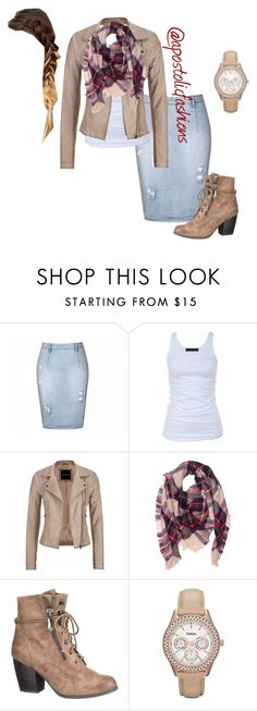 """""""Apostolic Fashions #937"""" by apostolicfashions on Polyvore featuring Ally Fashion, Tusnelda Bloch, maurices and FOSSIL"""