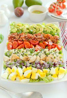 Sałatka Cobb Big Mac Salat, South Beach Diet, Cooking Recipes, Healthy Recipes, Aga, Food Art, Cobb Salad, Cake Recipes, Grilling