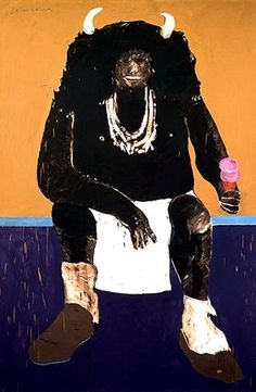 Super Indian No. 2, 1971, Fritz Scholder - Indian eating ice cream