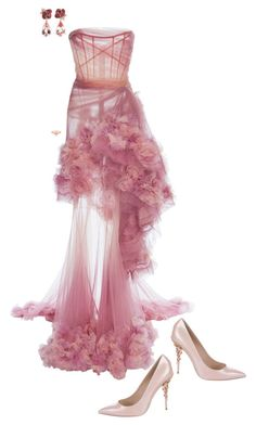 """""""Simply Elegant"""" by ccoss ❤ liked on Polyvore featuring Marchesa, Anyallerie, Marie Mas and Ralph & Russo"""