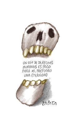 Caricatura de Zapata sobre derechos humanos. Caracas, 25-01-2013 (PEDRO LEON ZAPATA / ARCHIVO EL NACIONAL). Publicada: