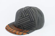 """#snapback #cap #fashion #accessories This cap was created with inspiration from a moodboard of protection. All 4 patterns on the cap can be seen in polynesian art and very often each of them is meaning """"protection"""". The colors was choosed to highlight the patterns and to create a cap not seen anywhere else. The embroidery gives the cap a unique conspicuous look when the light hits the brim out from the dark."""