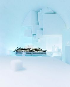 The largest Ice Hotel in the world - Jukkaskarvi, village in Sweden