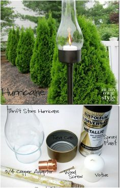 Upcycled Outdoor Tuna Can Lantern