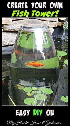 cool DIY Fish Tower | The WHOot by http://www.dezdemon-exoticfish.space/fish-ponds/diy-fish-tower-the-whoot/