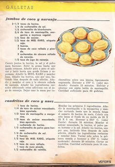 recetario Maizena antiguo - Lourdes Perez - Álbumes web de Picasa Mexican Food Recipes, Cookie Recipes, Keto Recipes, Snack Recipes, Snacks, Köstliche Desserts, Delicious Desserts, Zucchini, Vintage Cooking