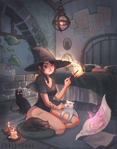 Pretty Art, Cute Art, Witch Characters, Fantasy Characters, Character Art, Character Design, Witch Drawing, Arte Indie, Desenhos Gravity Falls