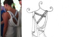 Nicole Miller Dress – Pencil   Pretty as a Picture. Gorgeous sketch of wedding dress by Ailbhe Ryan of Pretty as a Picture. #weddingdress #weddingdresssketch #beautifuldress #prettyasapicture #weddingdressportrait Special Wedding Gifts, Unique Wedding Gifts, Anniversary Present, One Year Anniversary, Wedding Dress Sketches, Wedding Dresses, Nicole Miller, Beautiful Dresses, Pencil