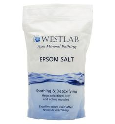 Westlab Epsom Salt 1 K g -  Post any kind of hardcore fitness (in my case pole/Krav maga/kettlebells) I was finding that my stretching and foam roller wasn't totally hitting the spot and I would wake up sore next morning.  I've  now also incorporated a salt bath and post workout fatigue is totally gone.