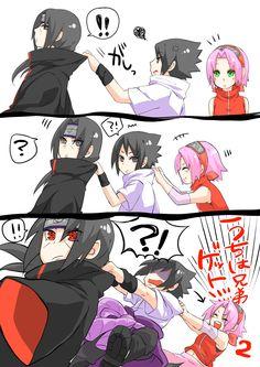 Tags: NARUTO, Haruno Sakura, Uchiha Sasuke, Comic, Pixiv, Uchiha Itachi, Pixiv Id 2308280