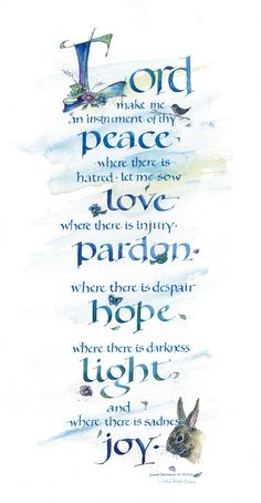 Lord Peace ~::~ Judy Dodds, Penscriptions Calligraphy