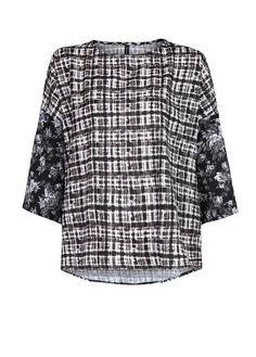 Camicia fluida stampe combinate - Bluse e camicie da Donna | OUTLET