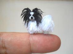 Mini Papillon Dog - Tiny Crochet Miniature Dog Stuffed Animals - Made To Order Havanese Puppies, Baby Puppies, Pomeranian Puppy, Stuffed Animals, Perro Papillon, Minis, Crocheted Jellyfish, Miniature Dogs, Mini Dogs