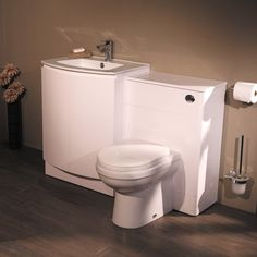 A Toilet & Sink combo, or Combination Unit is a space saving fusion of; sink, toilet & vanity unit in one. Toilet Vanity Unit, Toilet And Sink Unit, Toilet Sink, Sink Units, Vanity Units, Cloakroom Suites, Downstairs Loo, Bathroom Furniture, Amazing Bathrooms