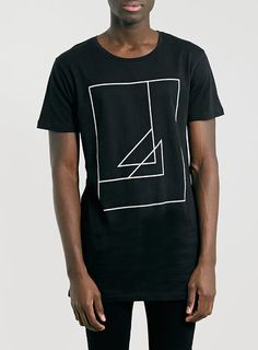 Selected Homme Long Line Black T-Shirt - Black