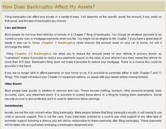 Interesting News, How Does Bankruptcy Affect My Assets?, Read more : http://mabklawyer.com  #bankruptcylawyerplymouth #bankruptcyattorney #bankruptcylawyerstaunton