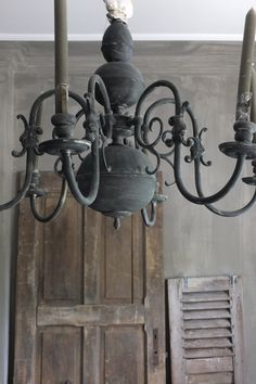 I see a bright brass chandelier in the flea market all the time.  I wonder if I would like it if I paitned it pewter?