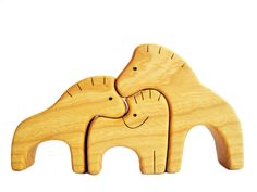 Wooden Puzzle Horse Family Gift for Toddlers and Children Animal Puzzle Horse figurine Woodland puzzle Handmade Eco Friendly Birthday gift by WoodenCaterpillar on Etsy Wooden Toys For Toddlers, Puzzles For Toddlers, Toddler Gifts, Toddler Toys, Animal Puzzle, Animal Projects, Wooden Puzzles, Scroll Saw, Family Gifts
