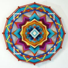 Azalea Springtime a 16 inch 12-sided Ojo de Dios by JaysMandalas