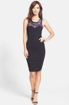 Felicity and Coco Lace Inset Ponte Body-Con Dress (Nordstrom Exclusive)